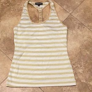 Rampage gold and white stripped tank
